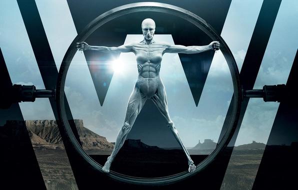Картинка wallpaper, skull, girl, glass, logo, robot, android, sky, desert, woman, western, cloud, sand, muscles, series, …