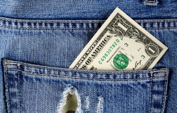 Картинка деньги, джинсы, доллар, ткань, карман