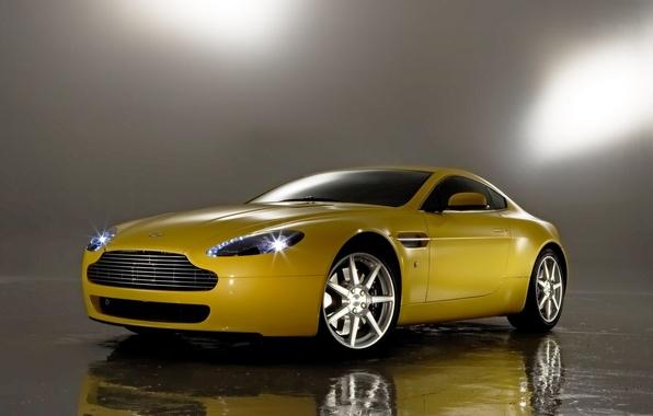 Фото обои авто, отражение, Aston Martin, Vantage
