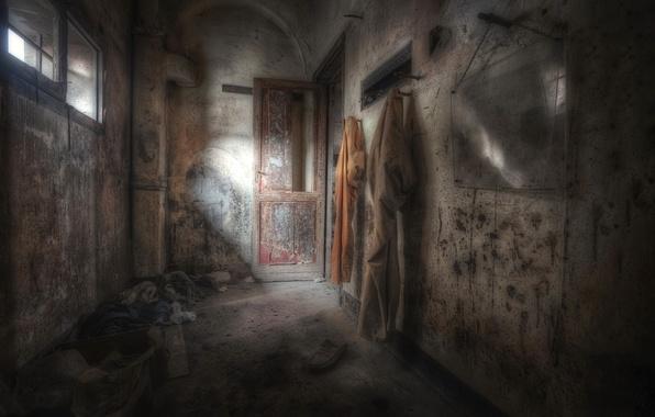 Картинка мрак, дверь, окно