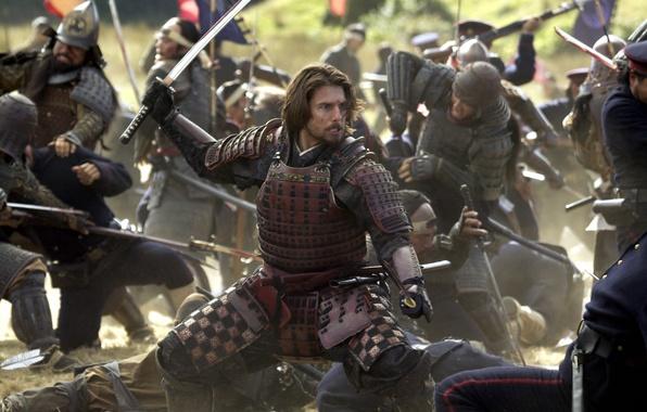 Картинка битва, Том Круз, драма, Tom Cruise, The Last Samurai, Последний Самурай