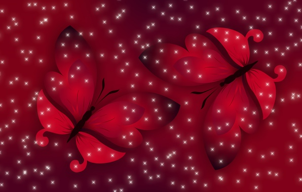 Картинка свет, бабочки, красный, весна, Настроение
