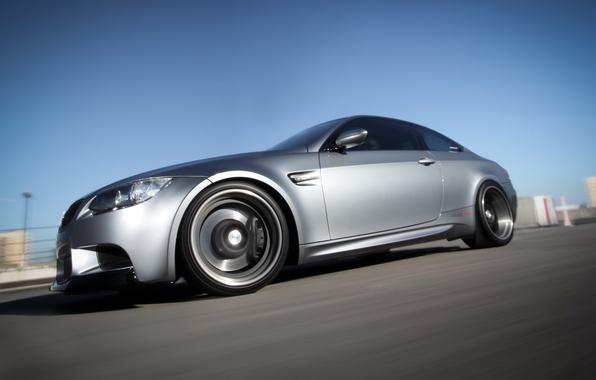 Картинка серый, купе, скорость, размытость, BMW