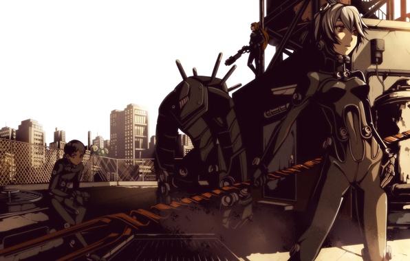 Картинка Neon Genesis Evangelion, Shinji Ikari, Asuka Langley Soryu, Ayanami Rei