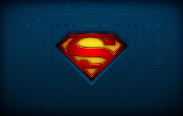 Картинка red, logo, superman, yellow, blue