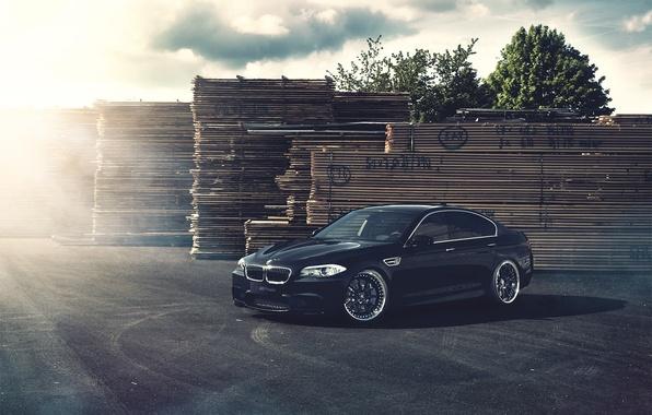 Картинка доски, бмв, BMW, чёрная, black, блик, F10, Fernandez World Photography