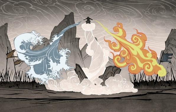 Картинка вода, огонь, земля, стихия, магия, воздух, битва, аватар, avatar, The Legend of Korra, Аватар: Легенда …