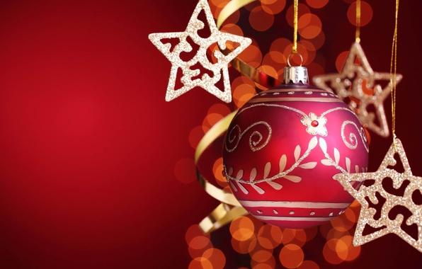 Картинка игрушка, новый год, шар, звёздочка