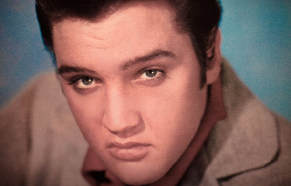 Картинка взгляд, лицо, музыкант, певец, Рок-н-ролл, Элвис Пресли, Elvis Presley