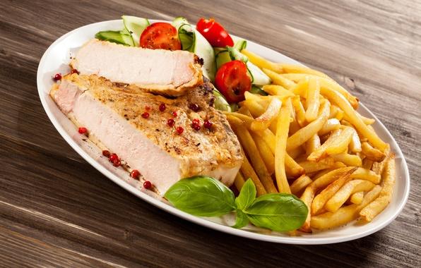 Картинка мясо, помидор, специи, картофель, meat, tomato, spices
