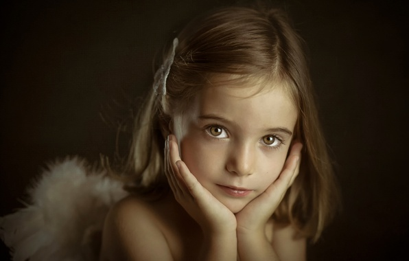 Картинка портрет, девочка, Little Angels, Verónica