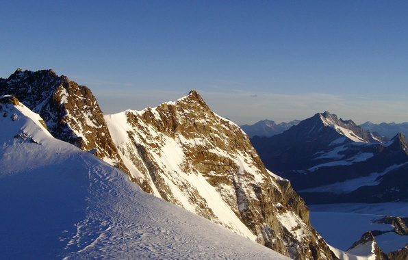 Картинка холод, зима, снег, горы, природа, скалы, пейзажи, вершины, мороз