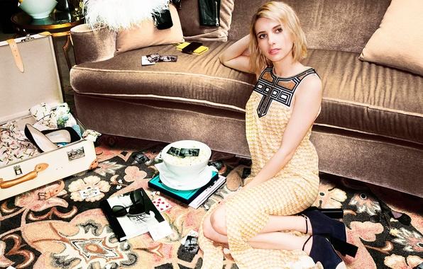 Картинка fashion, Emma Roberts, photoshoot, clothes, Jimmy Choo