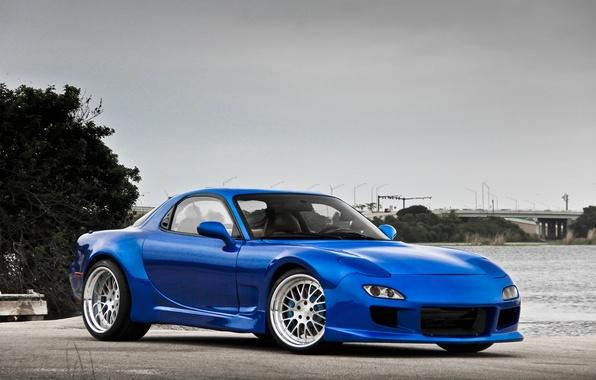 Mazda rx7 blue