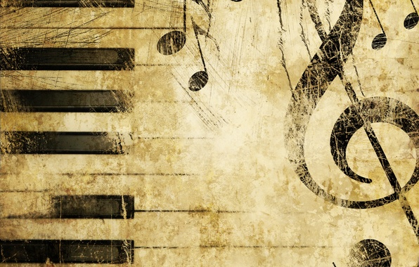 Картинка музыка, пианино, текстуры, Скрипичный ключ