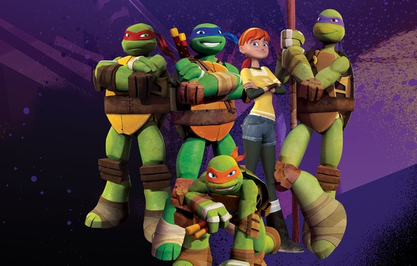 Картинка Green, TMNT, Raphael, Leonardo, Donatello, Teenage Mutant Ninja Turtles, Michelangelo, Animation, Weapons, TV Series, Characters, …