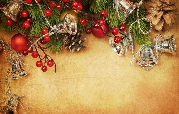 Картинка украшения, ягоды, елка, Christmas, decoration, xmas, Merry, Рождество. Новый Год