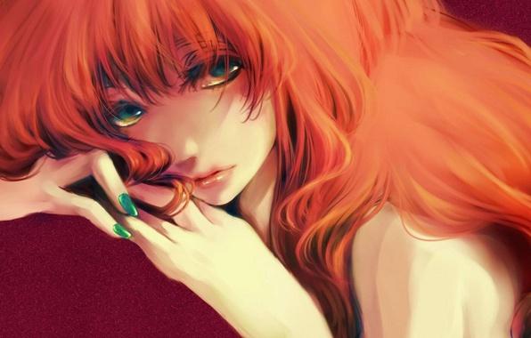 Рыжие аниме волосы