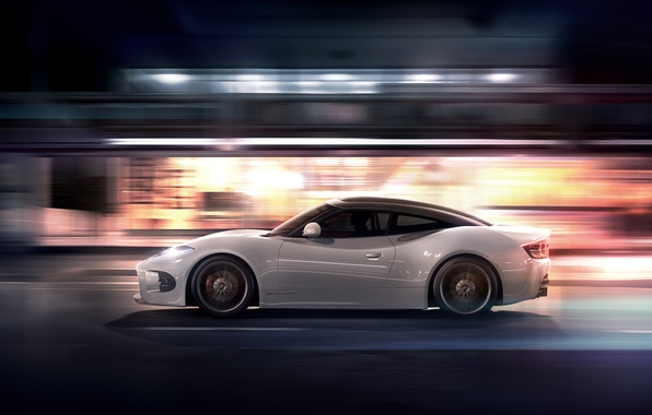Картинка Concept, Ночь, Машина, Скорость, Спайкер, Desktop, Автомобиль, Speed, Wallpapers, 2013, Venator, Spyker B6