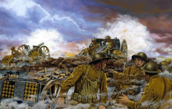Картинка война, британцы, September 26, 1918, Western Front, France -- September 26, Truman\'s Battery, 1918..At 0420 …