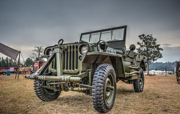 """Фото обои армейский, повышенной, """"Виллис-МВ"""", Jeep, автомобиль, проходимости, Willys MB"""