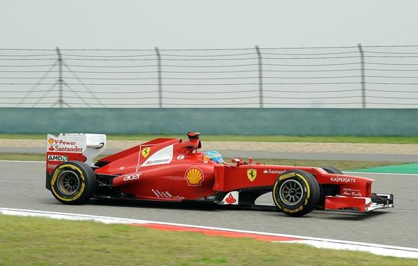Картинка Формула 1, Ferrari, Fernando Alonso, Фернандо Алонсо, f2012