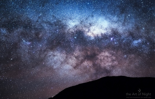 Картинка небо, звезды, гора, Млечный путь, галактика, photographer, Mark Gee