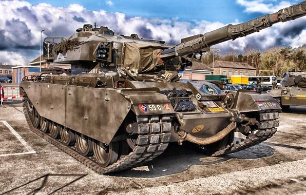 Картинка башня, hdr, танк, пушка, броня, гусеницы, tank
