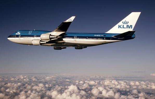 Картинка высота, Boeing, полёт, Боинг, 400, B-747, KLM, AIRFRANCE