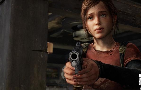 Картинка девушка, пистолет, оружие, арт, The Last of Us, один из нас