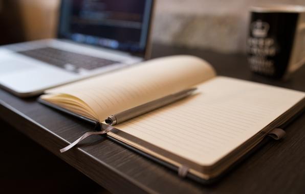 Картинка ручка, тетрадь, ежедневник