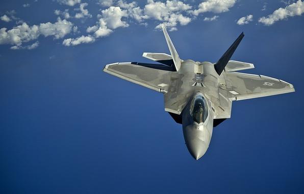 Картинка полет, истребитель, малозаметный, многоцелевой, F-22 Raptor
