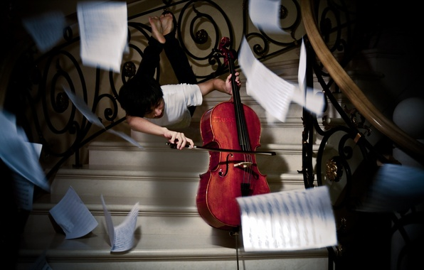 Картинка музыка, фон, виолончель