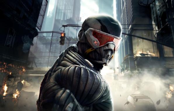 Картинка игра, боец, game, Crysis 2