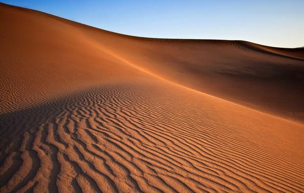 Картинка песок, небо, природа, барханы, пустыня, дюны