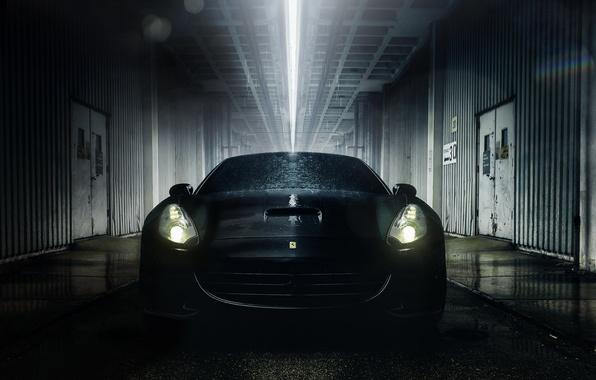 Картинка капли, свет, мокрая, Ferrari, California