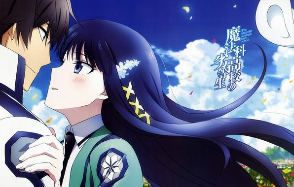 Обои аниме, парень, арт, непутёвый ученик в школе магии, тацуя.