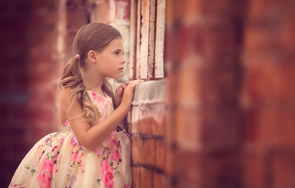 Картинка стена, настроение, девочка