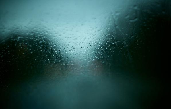 Картинка машина, стекло, капли, дождь, окно, текстуры, погода