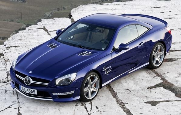 Картинка синий, автомобиль, 2012, мерседес, auto, wallpapers, amg, sl65, новый, new, бенз, амг, сл65, mecedes