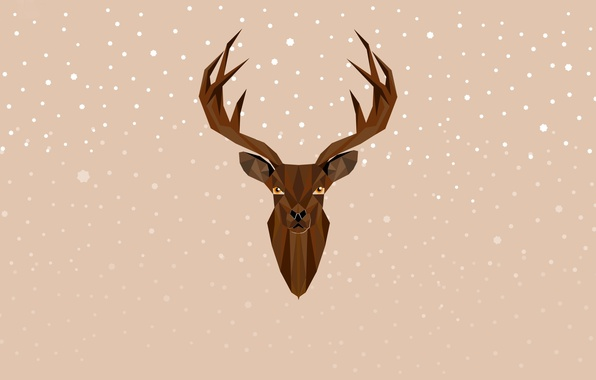 Картинка олень, Новый Год, Рождество, Christmas, New Year, Xmas, deer, Merry, Designed by, Chiara Faes