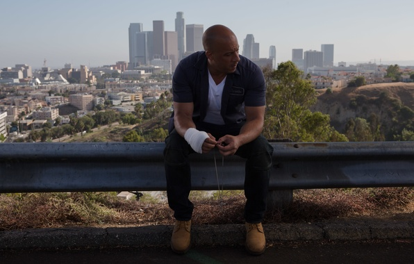 Картинка Вин Дизель, Vin Diesel, Dominic Toretto, Форсаж 7, Furious 7