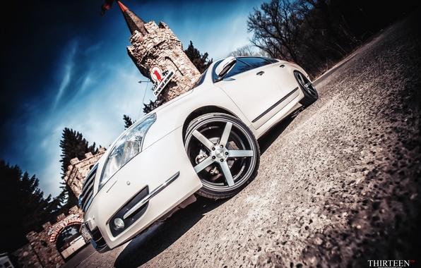 Картинка башня, фотограф, оптика, Nissan, диски, photography, photographer, Vossen, Thirteen