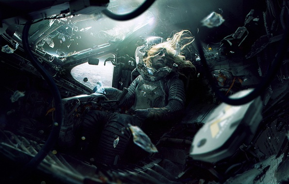 Картинка космос, смерть, фантастика, планета, скафандр, орбита, кабина, пилот, aliens, alien, астронавт, weyland yutani, Weyland-Yutani Corporation