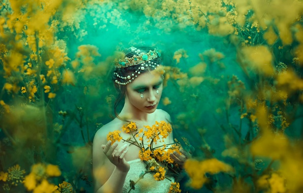 Картинка девушка, украшения, макияж, слёзы, Bella Kotak, A Midsummer's Dream