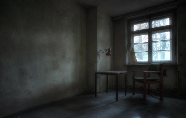 Картинка стол, комната, окно, стул