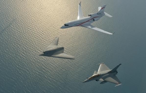 Картинка Saab, plane, Gripen, jet, Pegasus, McDonnell Douglas, X-47B, Northrop Grumman Corporation, US Navy, stealth, drone, …