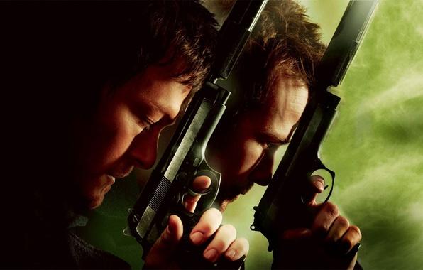 Картинка пистолет, оружие, мужчина, guns, святые из бундока, Boondock Saints II