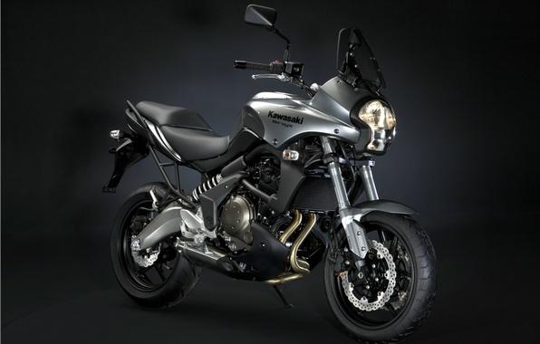 Картинка черный, Kawasaki, versys