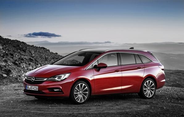 Картинка красный, Opel, астра, опель, универсал, Astra, Tourer